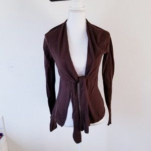 Vince Cashmere Open Front Long Sleeve Cardigan